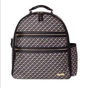 Skiphop Deco Saffiano Diaper Backpack in Black